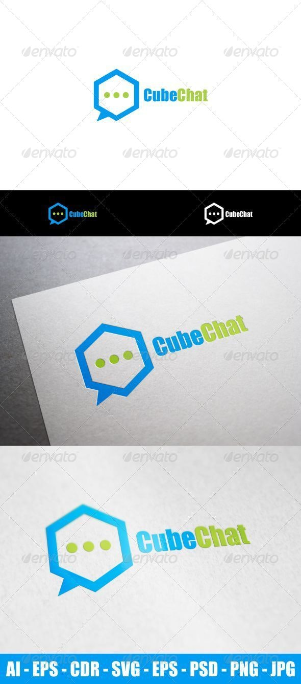 Cube Chat - Objects Logo Templates