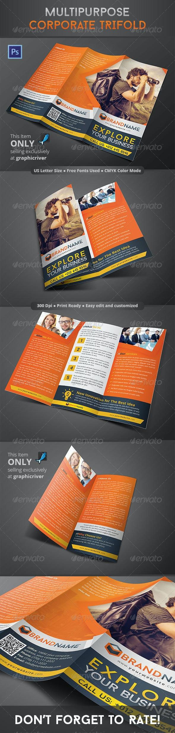 Multipurpose Corporate Trifold - Corporate Brochures