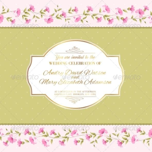 Luxurious Invitation Card. - Flowers & Plants Nature