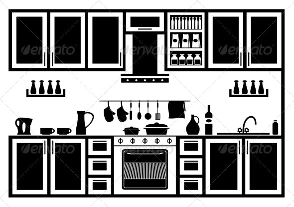 Icon of Kitchen - Buildings Objects