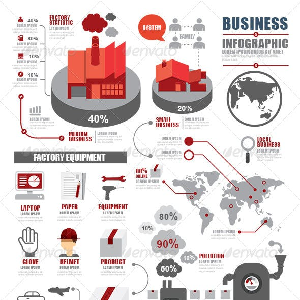 Infographic Shipping World Industry Factory