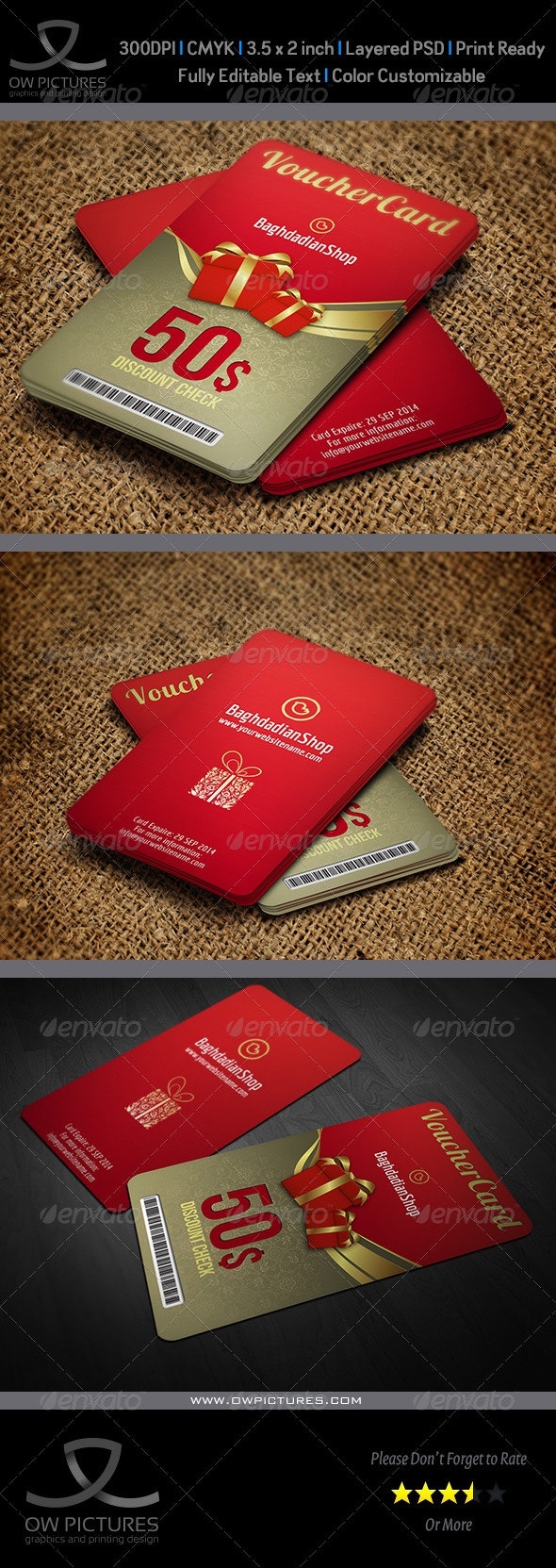 Gift Voucher Card Template Vol.12 - Cards & Invites Print Templates