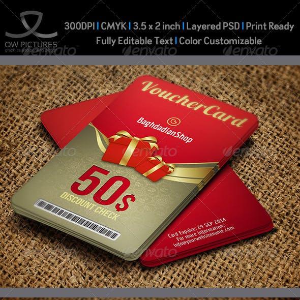 Gift Voucher Card Template Vol.12