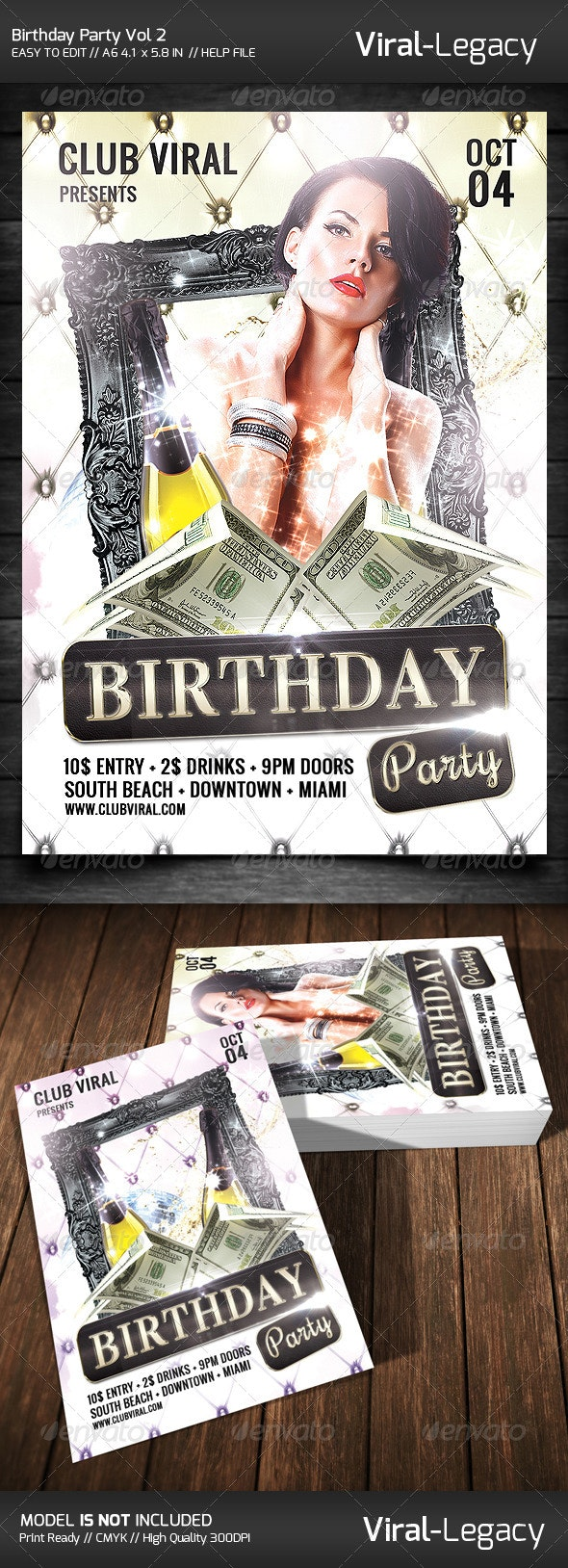 Birthday Party Flyer - Flyers Print Templates