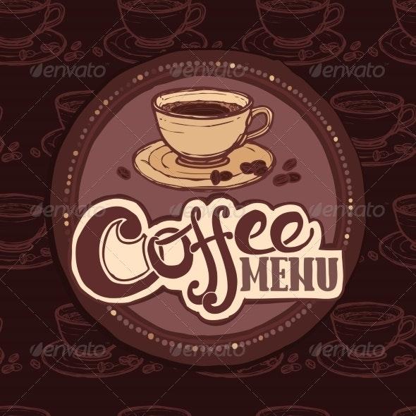 Restaurant Sketch Menu Template - Food Objects