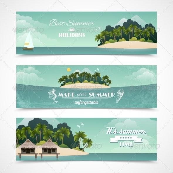 Island Horizontal Banners - Travel Conceptual