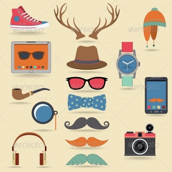 Hipster Elements Set - Retail Commercial / Shopping