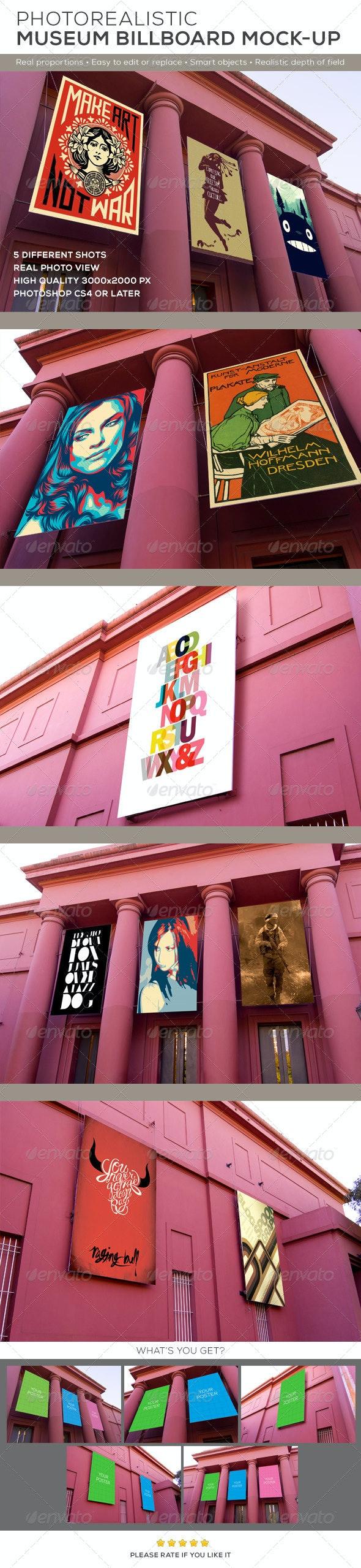 Museum Billboard Exhibition Mock-Ups - Posters Print