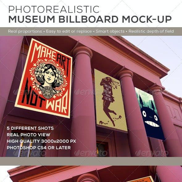 Museum Billboard Exhibition Mock-Ups
