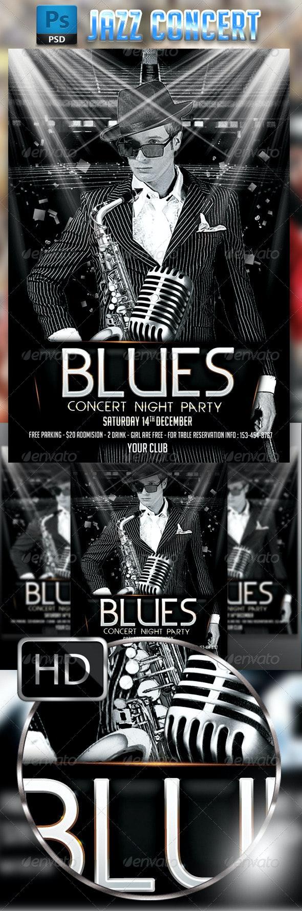 Jazz / Blues Concert Flyer - Concerts Events