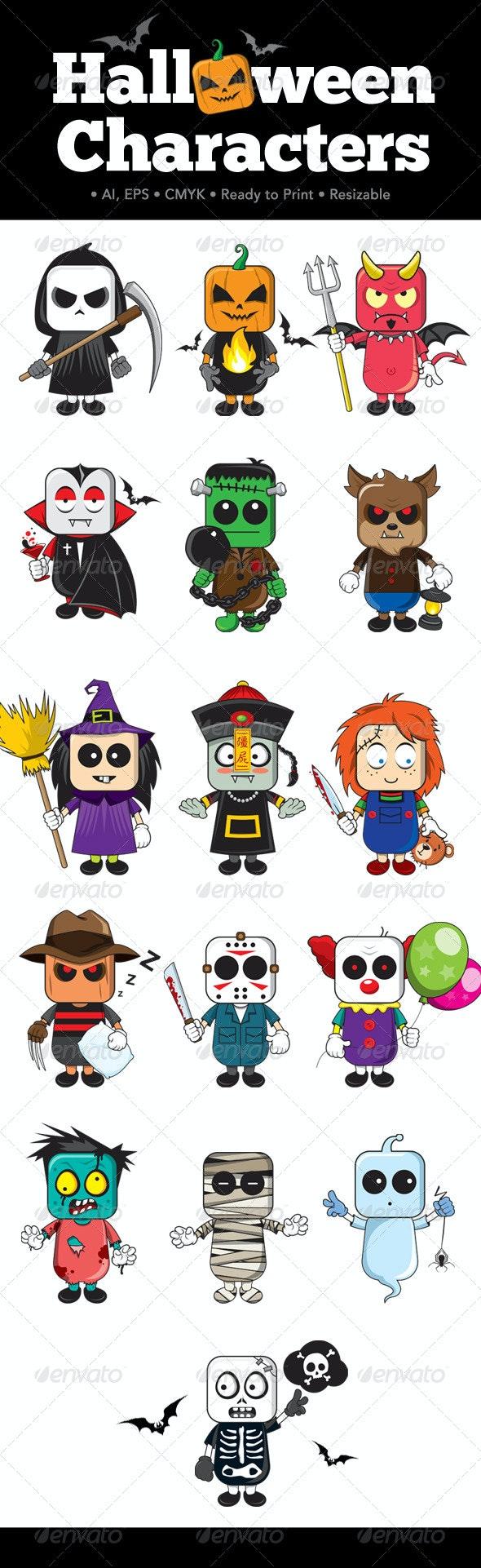 Halloween Characters - Characters Vectors