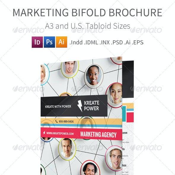 Marketing Bifold / Halffold Brochure