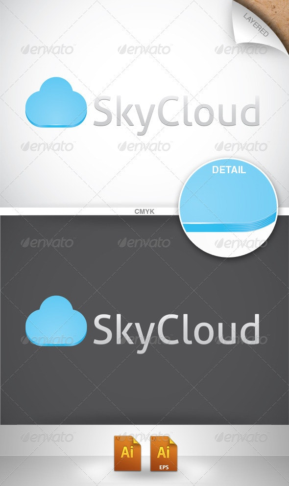 Sky Cloud Logo - Vector Abstract