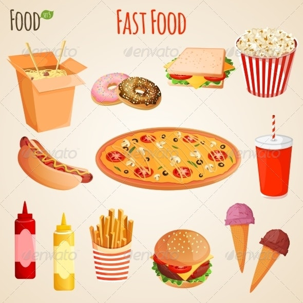 Fast Food Set - Food Objects