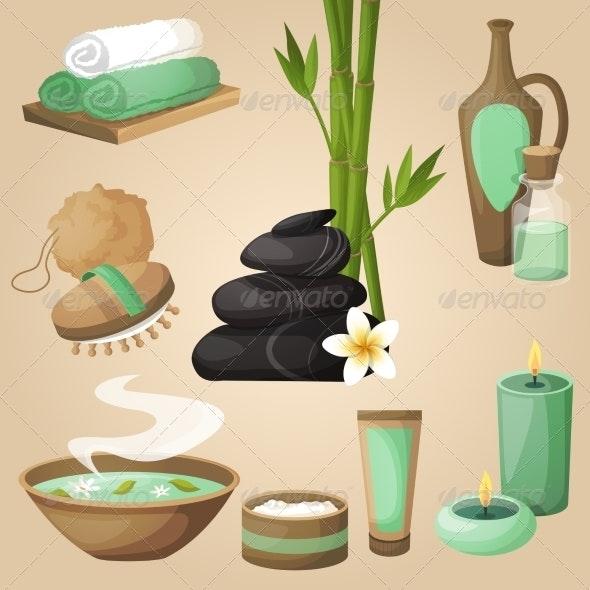 Spa Icons Concept - Health/Medicine Conceptual