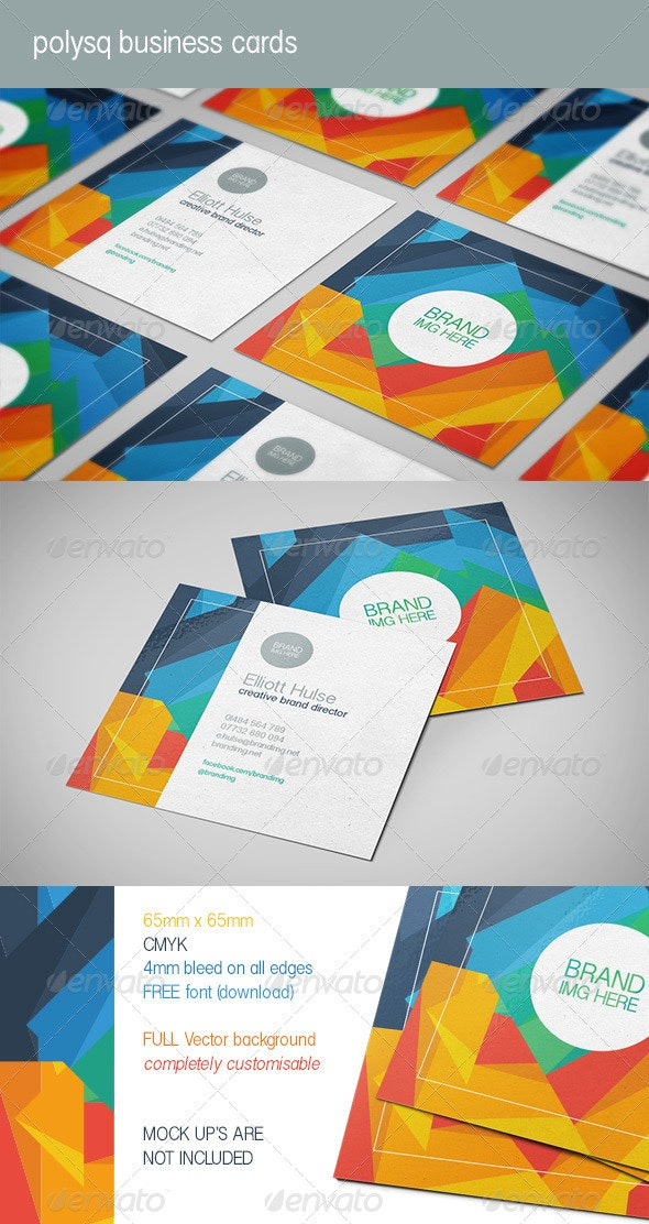Polysq Square Business Cards - Creative Business Cards