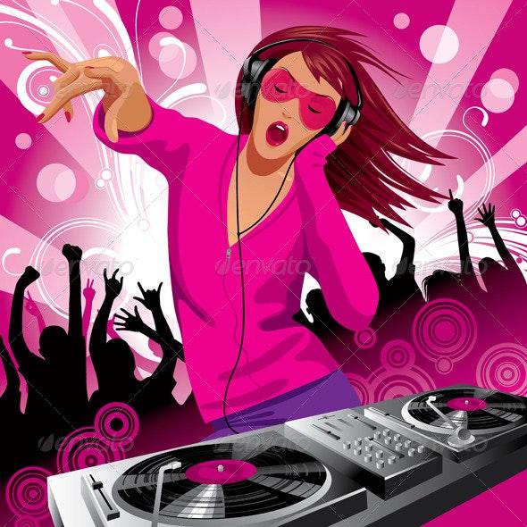 DJ Girl - People Characters