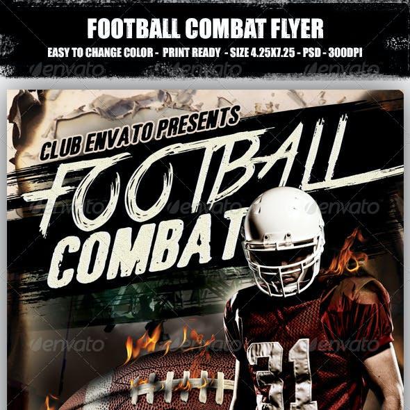 Football Combat Flyer
