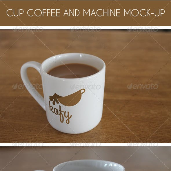 Coffee Cup and Machine