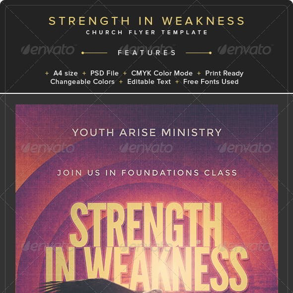 Strength in Weakness Church Flyer Template