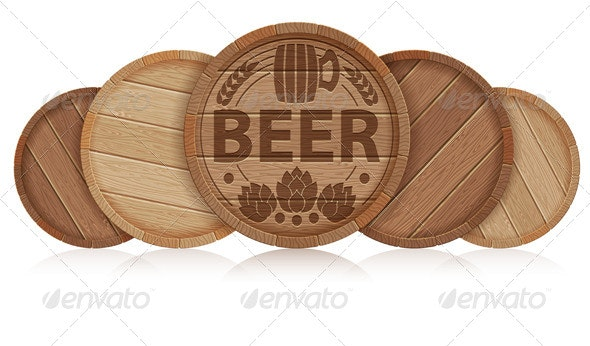 Barrels of Beer - Food Objects