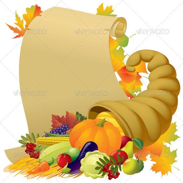 Thanksgiving Banner - Food Objects