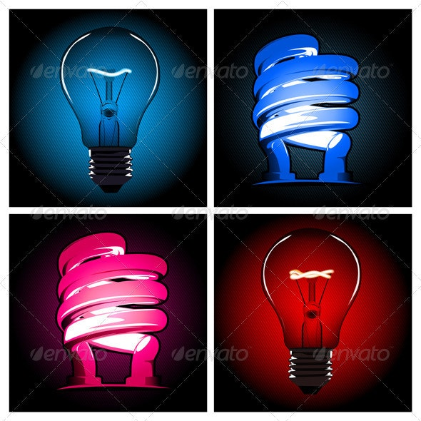 Bulb Lamp Set  - Man-made Objects Objects