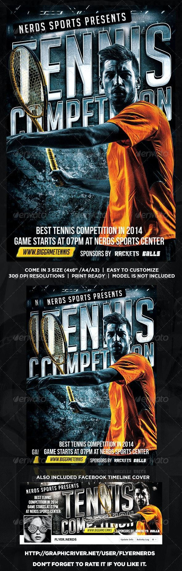 Tennis Competition Flyer - Sports Events