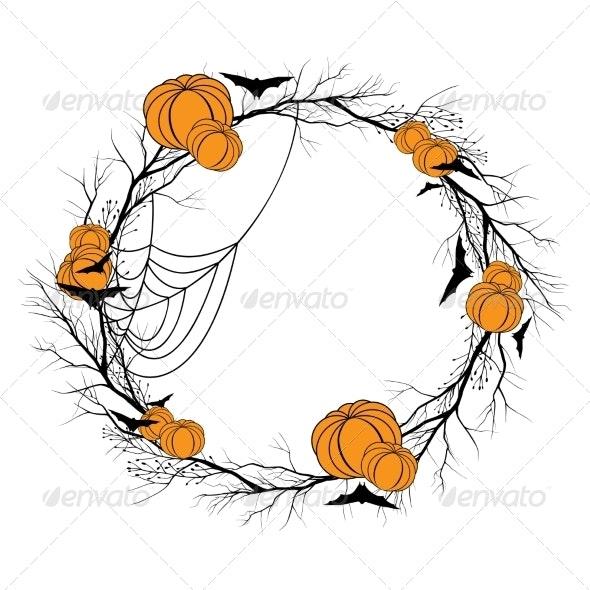 Vector Halloween Wreath - Halloween Seasons/Holidays