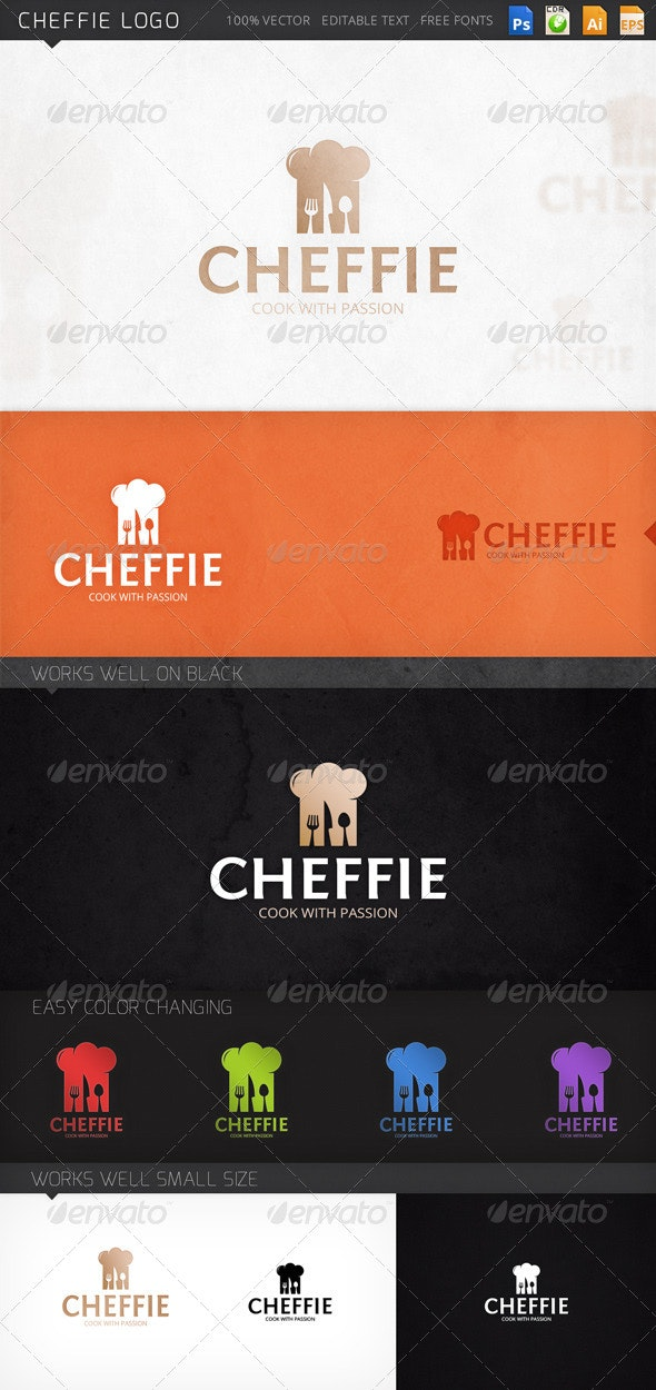 Cheffie Cheff Coocking Logo Template - Objects Logo Templates