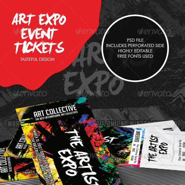 Art Event Ticket Template