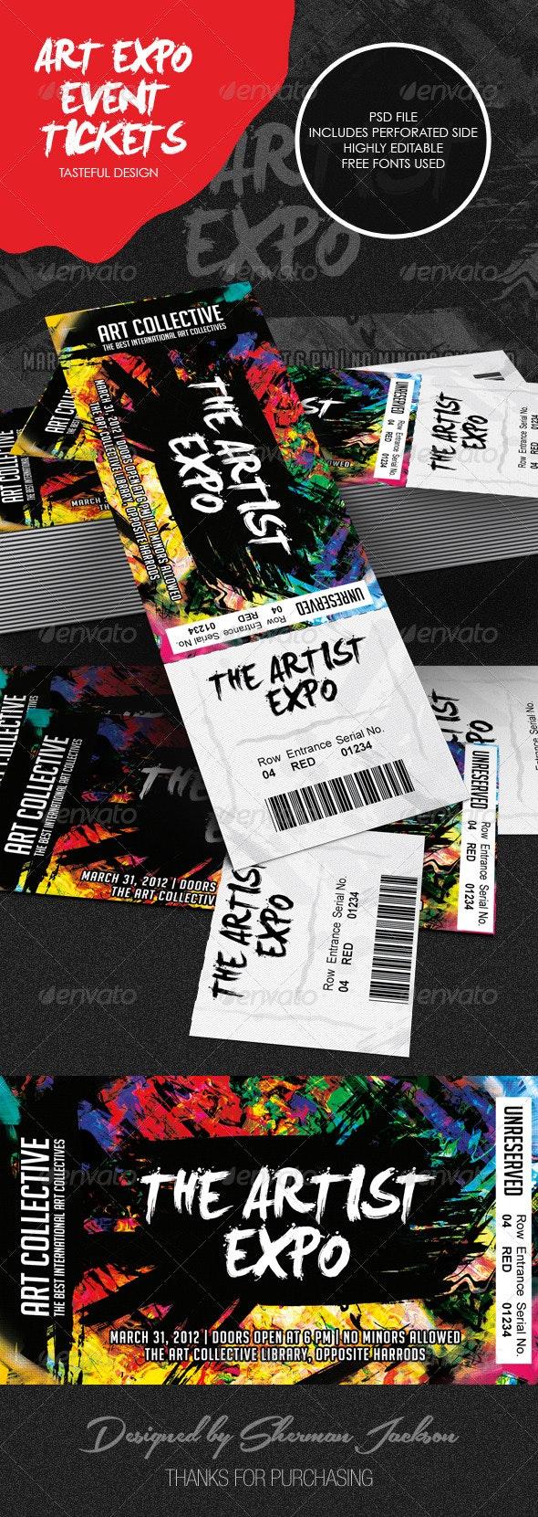Art Event Ticket Template - Miscellaneous Print Templates