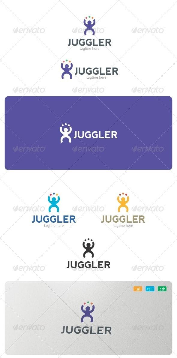 Juggler Logo - Humans Logo Templates