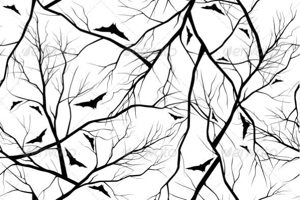 Halloween Background Grunge Image of Forest - Halloween Seasons/Holidays
