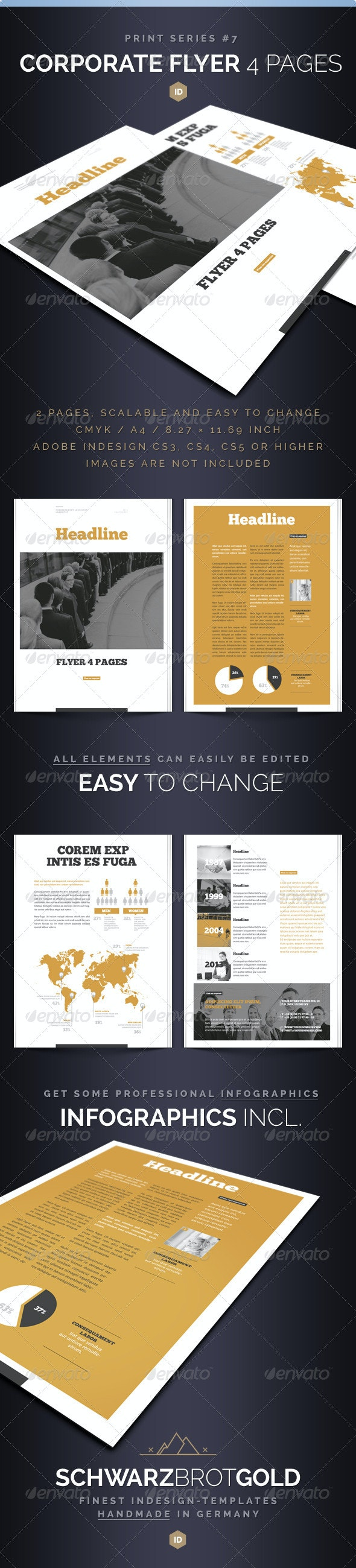 Corporate Flyer 4 Pages Series 7 - Corporate Flyers