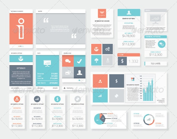Clean User Interface Styled Infographics - Infographics