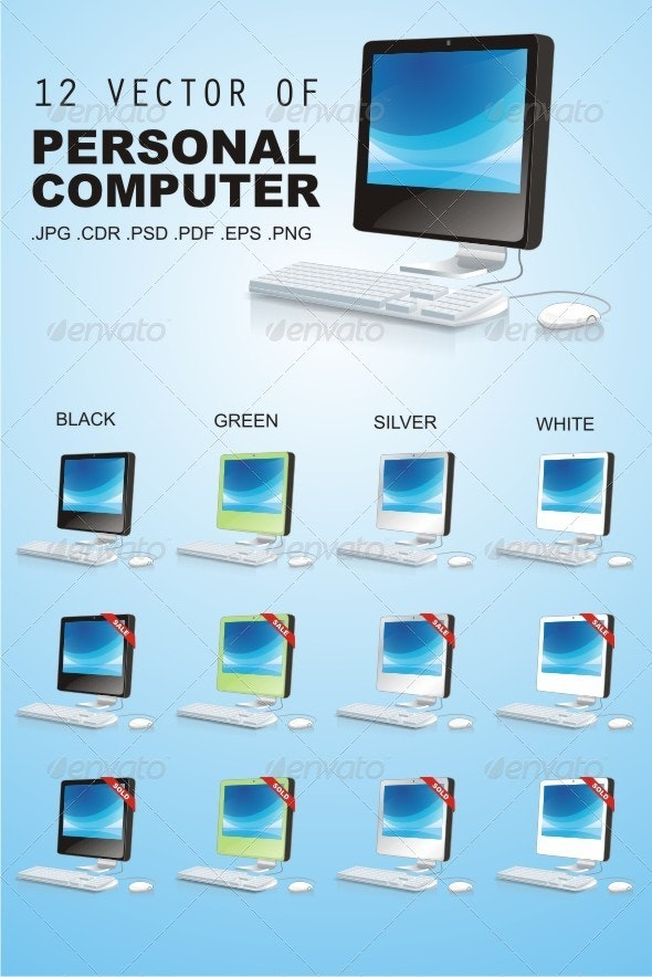 12 vector of Personal Computer - Computers Technology