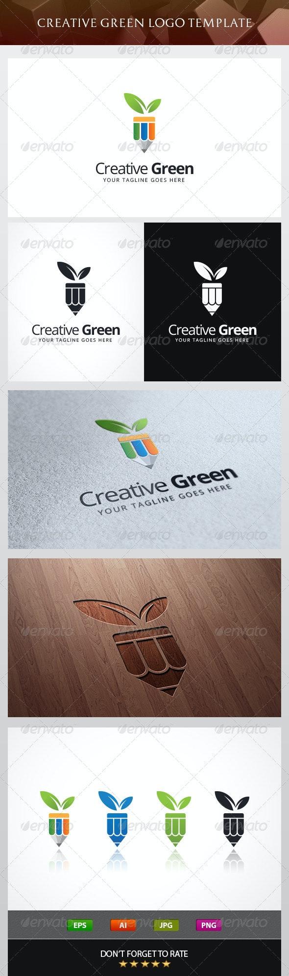 Creative Green Logo Template - Logo Templates