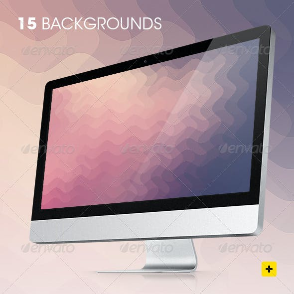 Wavy Pixels Backgrounds