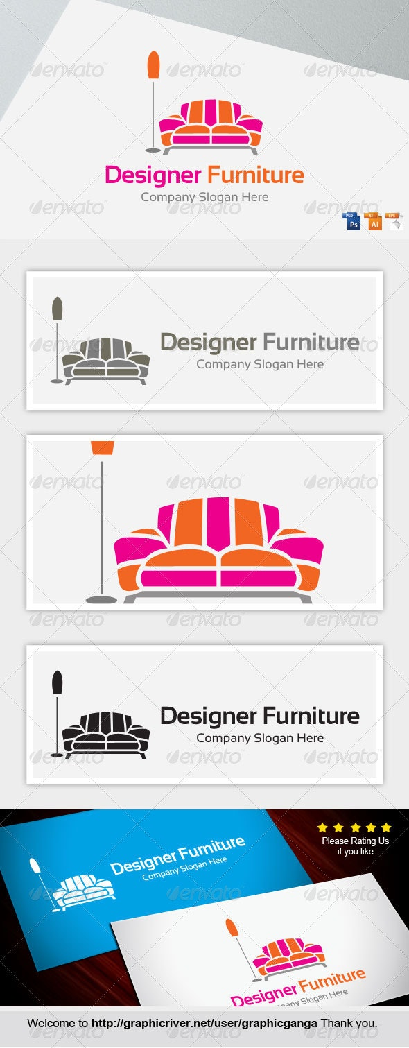 Designer Furniture - Objects Logo Templates