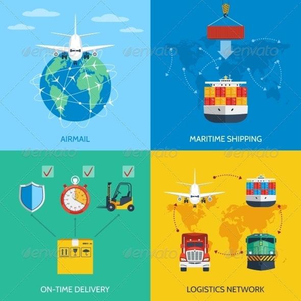 Logistic Concept Set - Industries Business