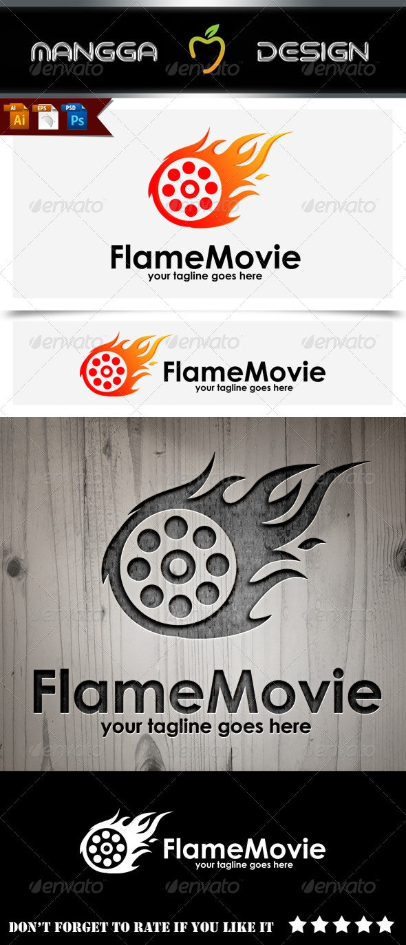 Flame Movie Logo - Symbols Logo Templates