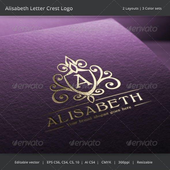 Alisabeth Letter Crest Logo