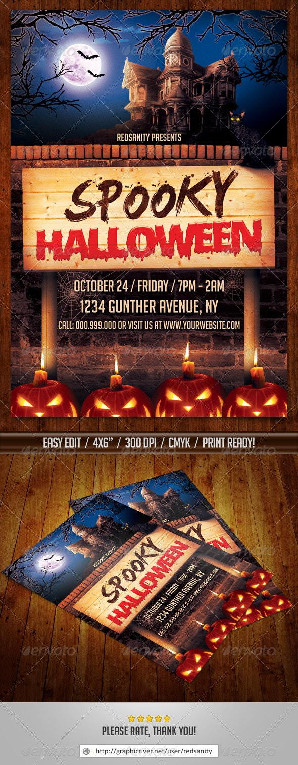Spooky Halloween Flyer - Holidays Events