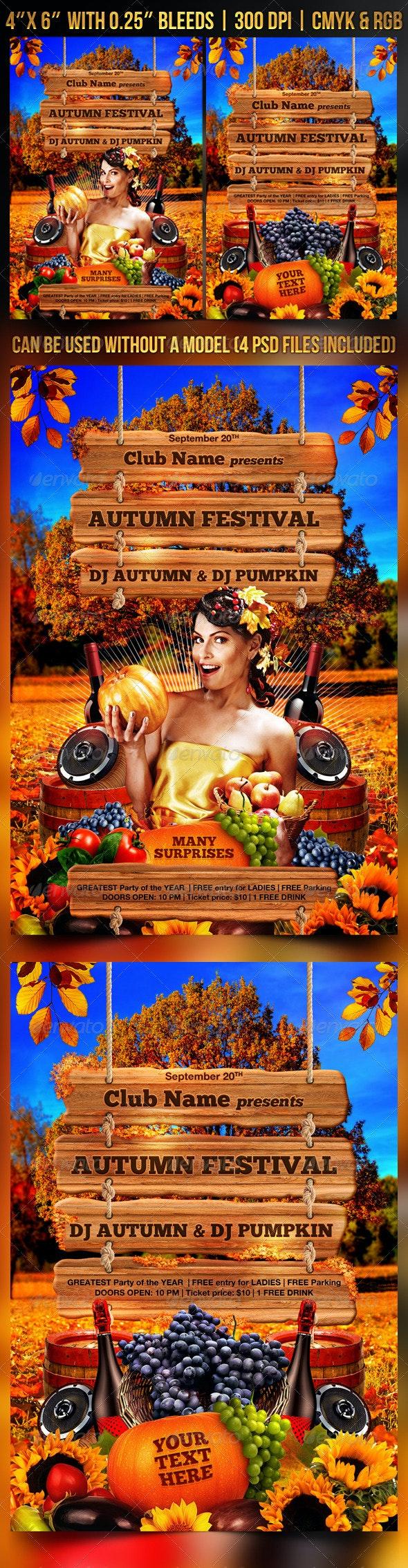 Autumn Festival Flyer Template - Clubs & Parties Events