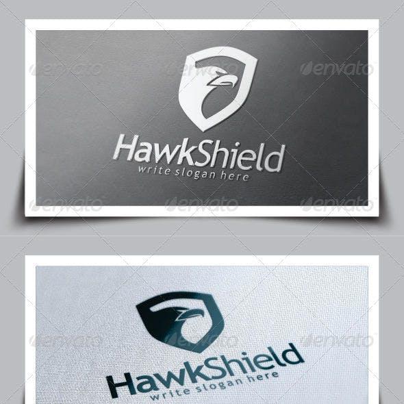 Hawk Shield Logo Template