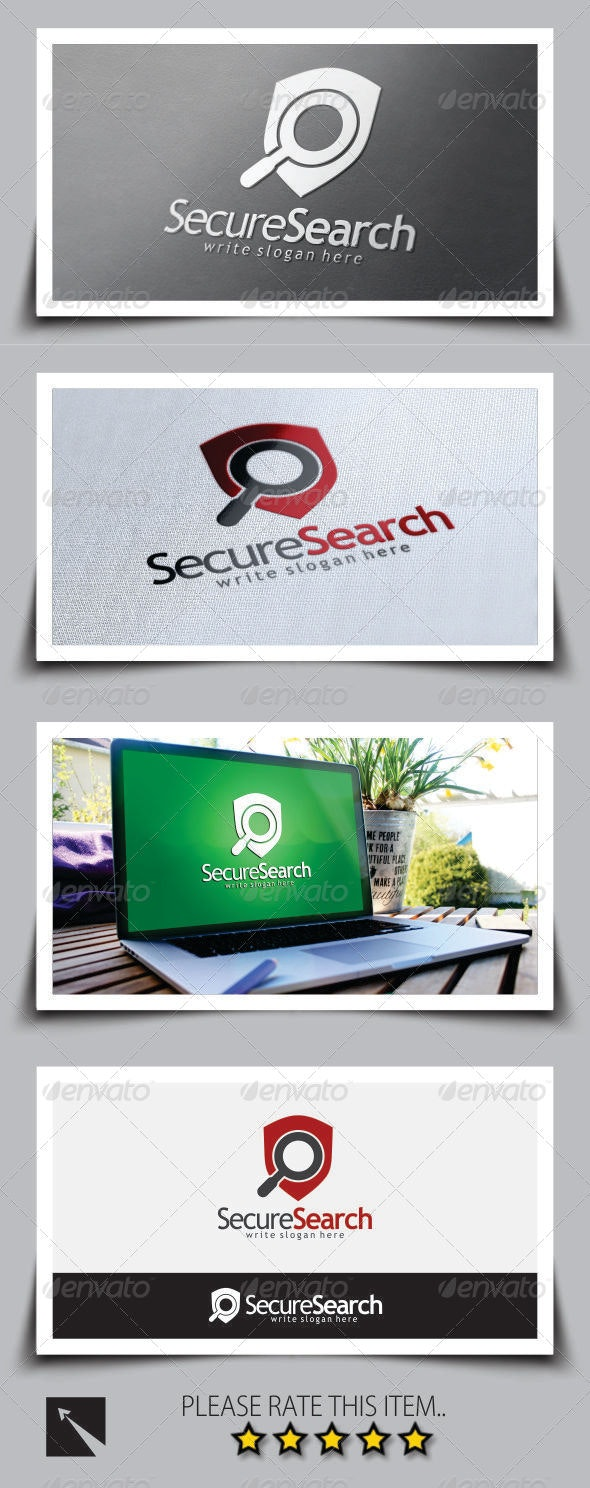 Secure Search Logo Template - Crests Logo Templates