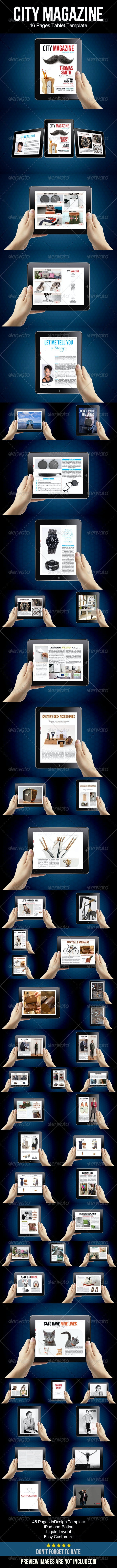 City Magazine Tablet Template - Digital Magazines ePublishing