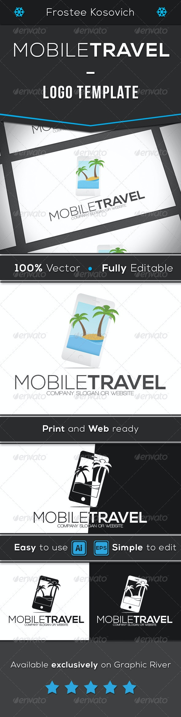 Mobile Travel - Objects Logo Templates