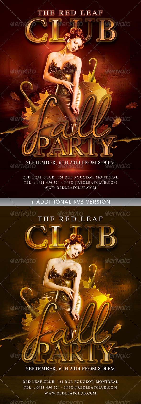 Annual Fall Autumn Party In Club - Events Flyers